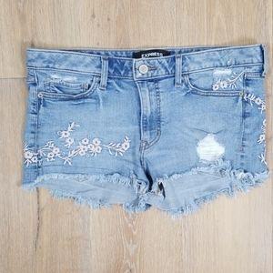 Express  - Cut Off Jean Shorts